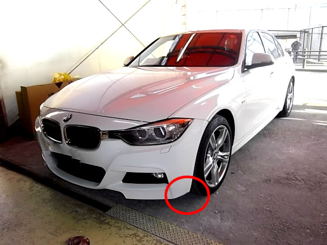 BMW3シリーズ F30 ・バンパー修理