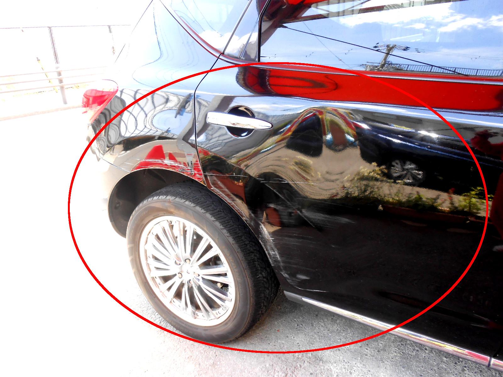 ムラーノ ・クォーター、ドア凹み修理