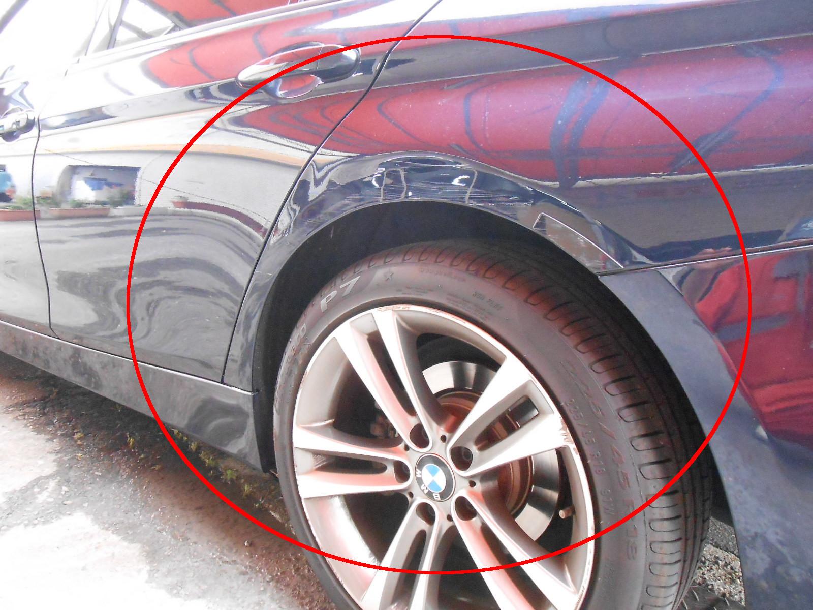 BMW3 F30 ・ドア、クォーター凹み修理
